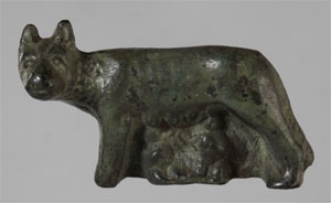 Statuette of Romulus and Remus (Click to enlarge)
