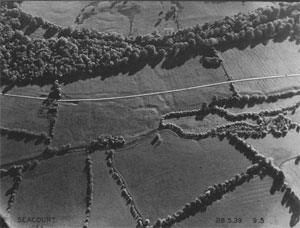 Aerial Photograph of Seacourt Deserted Medieval Village (Click to enlarge)