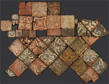 Reconstruction of tile floor (click to enlarge)
