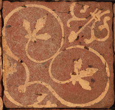 Tile from Godstow Abbey