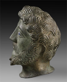 Sideview of Marcus Aurelius' head