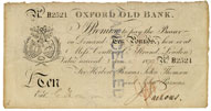 Oxford Old Bank £10 Note